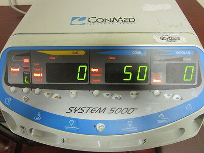ConMed Electrosurgical Generator System 5000 W/ Power Cord - TESTED WORKING