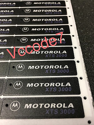 Motorola XTS3000 (BLACK) Front Label for Model 1,2,3