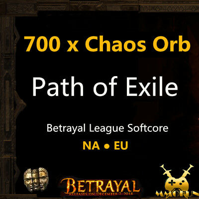 Path of Exile PoE 3.1 Currency & Item 1000 x Chaos Orb Abyss League Softcore SC