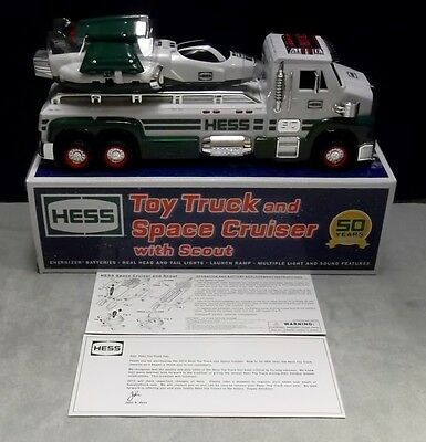 2014 HESS TOY TRUCK and SPACE CRUISER with SCOUT in Orig Box Anniversary Edition