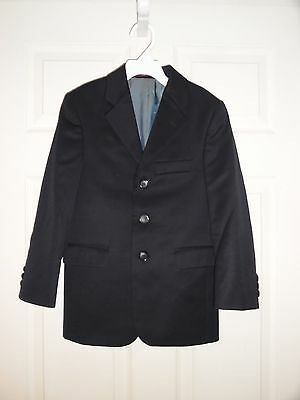 EEUC Boys Dress/Suit Jacket Coat Size 8S Joseph Abboud Worsted Wool Navy Blue