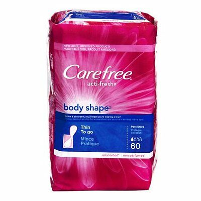 Carefree Body Shape Thin, Unscented, 8x60ct 078300069840J2430
