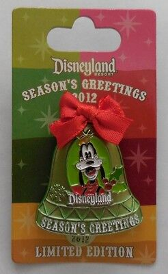 Disney Pin DLR 2012 Christmas Bell Ornament Goofy Pin LE1500