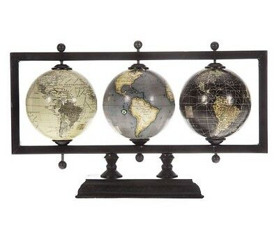 Vintage World classic globe antique style wood stand Vintage Rustic Map Home New