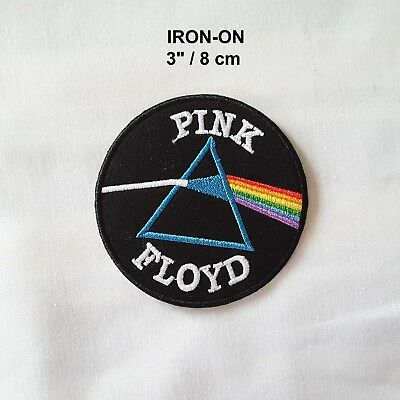 Pink Floyd Badge Embroidered Iron-on Emblem Music Patch The Doors Band Applique
