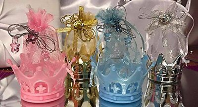 Baby Shower Or Birthday Fillable Crown Favors Prince Princess Gift Idea