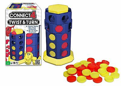 Connect 4 Twist and Turn Action Game New Free Shipping
