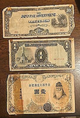 Japan 20th Century Circulated Currency Silver Yen Note; Peso; 10 Pesos