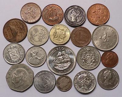 Foreign World Coins With Silver,  Lot Of 19 *dates:1896 To Present*
