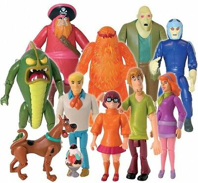 Scooby Doo Monster Action Figures Set 10 Figure Pack Kids Fun Gift Toys