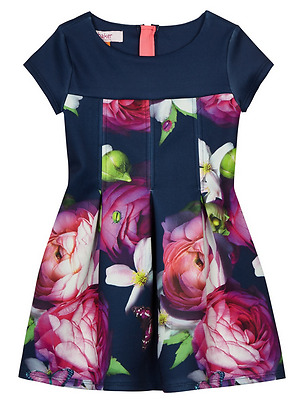 New Ted Baker Baby Girls Floral Rose Princess Party Summer Dress 12-18 Months