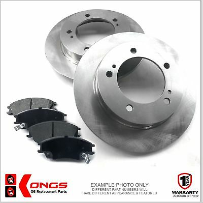 Rear Brake Pad + Disc Rotors Pack for FORD MONDEO ALL MODELS 2007-ON