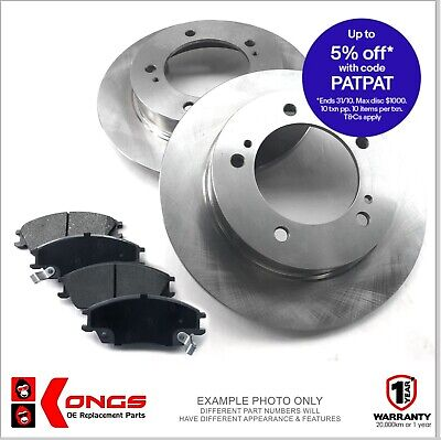 Front Brake Pad + Disc Rotors Pack for HOLDEN DROVER 4WD 3/85-87