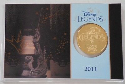 Disney Legends 24kt D23 Expo 2011 Coin Mintage of 1000 New