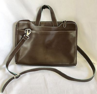 Lodis Women's Brown Leather Briefcase Laptop Bag