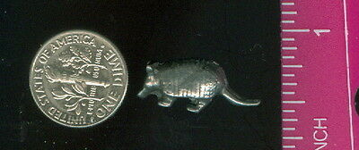 "Pack of 4 ~ Vintage Pewter Small Armadillo Figurine ~ Appx 3/4"" x 1/4"""