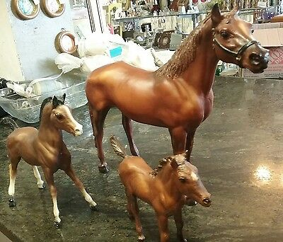 3 Breyer Horses, Full Size with two Colts