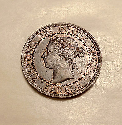 """1896 Canada Large Cent - Scarce """"Far 6"""" Variety - Sharp Looking Coin"""