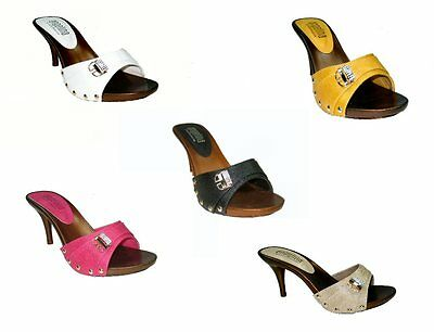 Blossom vote-55 one band slides mules 3.5 inch stiletto high heel shoes sandals