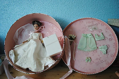 """New NRFB Forever Yours HAT BOX SET 10"""" Tiny Kitty Collier Bride Doll Tonner"""