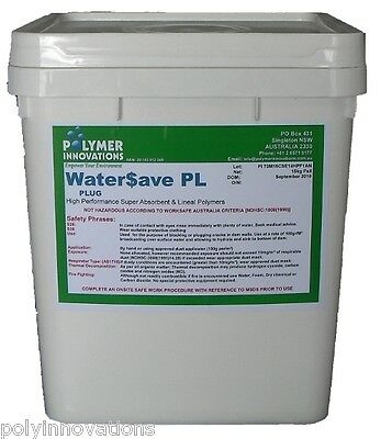 Leaking Dam & Pond Sealer - WATER SAVE PLUG 19kg - Locates Leak & Seals It, DIY