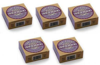 5x Mr Zogs Sex Wax Quick Humps Purple Label Cold to Cool - Surfboard Best Wax!!
