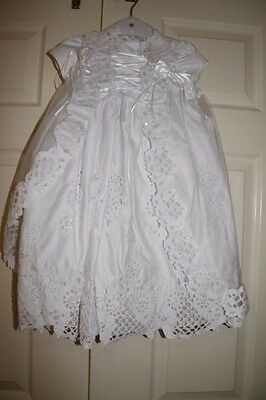 New White Beaded Christening Dress Christening Gown Size 000,00,0,1