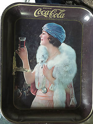 1925 COCA COLA COKE 'Party Girl'  Rectangle Serving Tray - 70s Reproduction