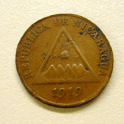 1919 Nicaragua One Centavo Coin