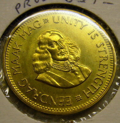 1963 SOUTH AFRICA. 1/2 PENNY Coin Unc