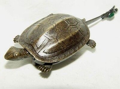 chinese old style bronze Turtle lock and key