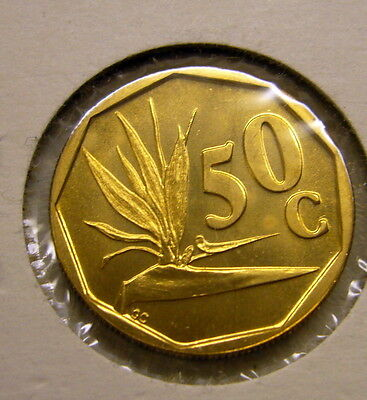 1995 SOUTH AFRICA 50 Cent Coin Unc