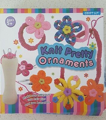 Craft Kit Knit Pretty Ornaments -  New In Box