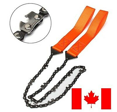POCKET SAW Portable Hand Chainsaw 65MN Spring Steel Gear Survival