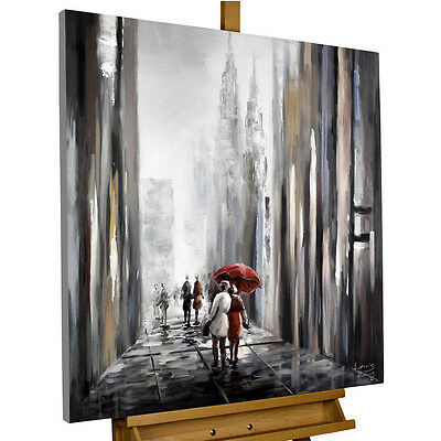 Framed Canvas Print Wall Art Pictures Home Decoration Couple Abstract Painting