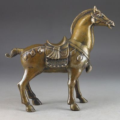 Beautiful China's rare copper old manual hammer the statue of horse