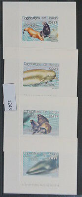 S0 1243 Wild Animals Congo MNH Whales LUXURY, Imperf