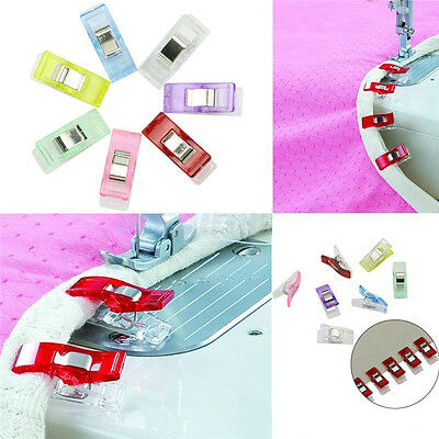 50Pcs/Bag Fashion Sewing Accessory Plastic Clips 10 Colors to Choose