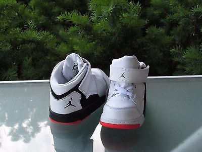 JORDAN Toddler Baby Boys White Leather Athletic Shoes, size 8c