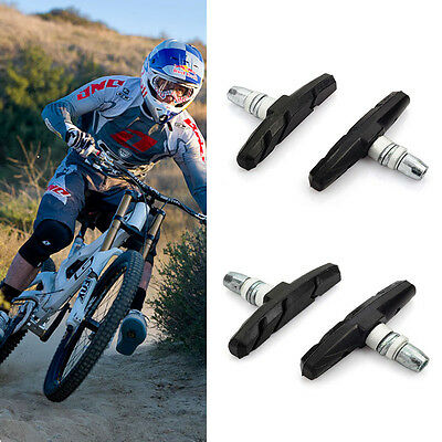 2PCS Mountain Bike Road Cycling Rubber T Brake Holder Shoes Pads Accessories