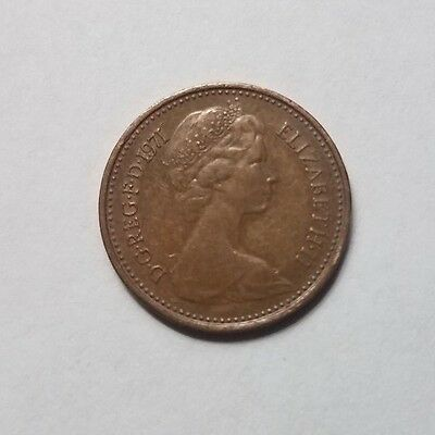 Great Britain United Kingdom 1/2 Penny Coin 1971