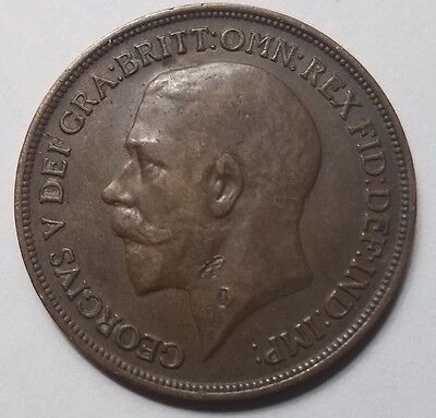 1916 Great Britain United Kingdom One Penny coin