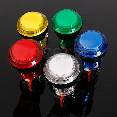 Mini Arcade Taster Aktionstaster Automat Push Button LED Licht Schalter 12V 24mm