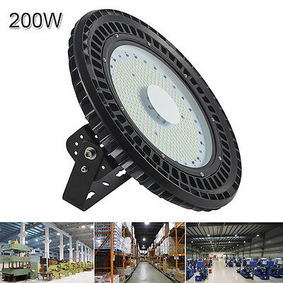 1x 200W LED UFO High Bay Light Gym Factory Warehouse Industrial Shed Lighting