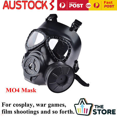 M04 Gas Mask for Paintball Wargame Cosplay Full Face Protection Gear &Fan System