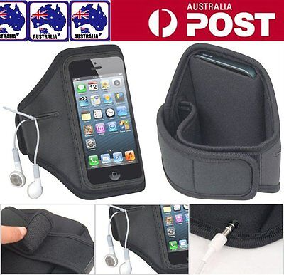 Sport Running Armband Case Arm Band w/ Earphones Pouch for iPhone 8 Plus 7 6S 5S