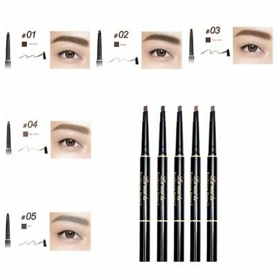 Beauty Waterproof Eyebrow Eyeliner Pencil Brow Definer Cosmetic  Kit Brown Black