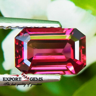 1.42Ct Very Nice Color Natural Pinkish Red Unheated Spinel Octagon