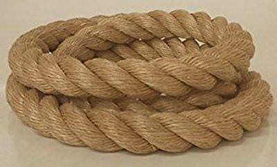 "1.5"" UNMANILA/PRO MANILA TAN POLY Rope Sold By The Foot $1.79/foot Fitness Farm"