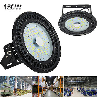 2x 150W LED UFO High Bay Light Gym Factory Warehouse Industrial Shed Lighting